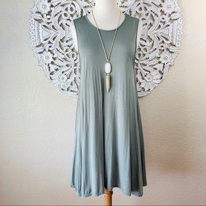 {Free People} Sleeveless Jersey Swing Dress